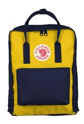 Рюкзак Fjallraven Kanken Navy/Warm Yellow